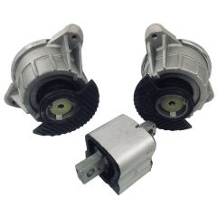 3PCS BAPMIC Engine & Transmission Mount Left + Right for Benz 2042404317