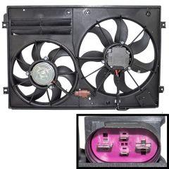Radiator Cooling Dual Fan fit A3 TT VW Beetle Jetta Golf Touran 1K0121205AD9B9