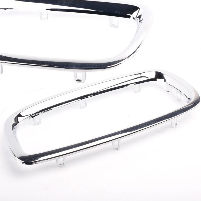 New CHROME Left Center Grill Trim Ring 51138223219 for BMW E65 745i E66  745Li