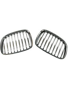 2PC Hood Radiator Air Intake Grille Grill Front, Left for BMW F07 GT 51137200167