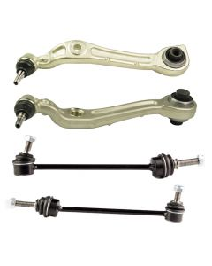 4PC Lower Control Arm w/ Ball Joint Sway Bar Link Front Left & Right 2213200189