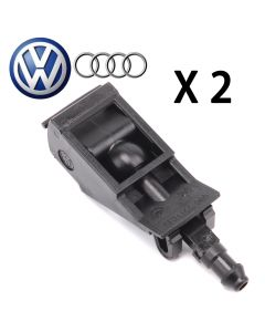 PAIR OE Windshield Washer Spray Nozzle For VW Golf Jetta Beetle Passat Touareg